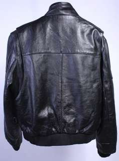 MENS FIRST BIKER THINSULATE LEATHER COAT/JACKET sz M