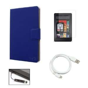 Dark Blue Kindle Fire Super Slim Ultra Thin Book Cover