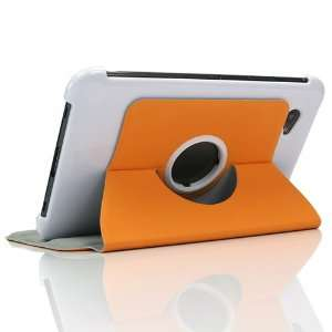 Orange / PU Leather Stand Case / Cover for Samsung Galaxy Tab 7