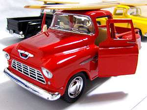 side 3100 Pick up Red Truck Die cast Dioramas Surfboard 1 32 5