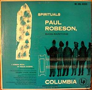 PAUL ROBESON 1949 Spirituals ML 4105 (M) LP Record