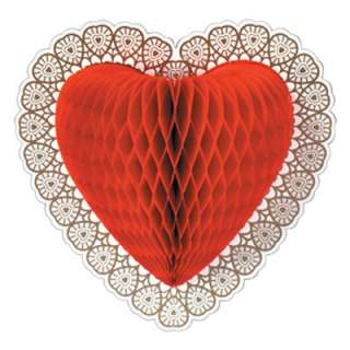 Valentines Day Honeycomb Tissue Paper Heart Decoration