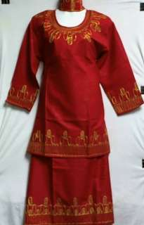 Clothes Skirt Suit Red Black Purple Gold NotCom M L XL 1X 2X 3X 4X