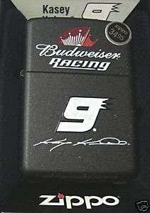 Zippo NASCAR Kahne Budweiser Racing Black Lighter 24730