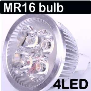 MR16 4W 12V White 4 LED Bulb Spot Light Lamp Downlight