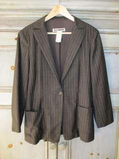 Jil Sander Louis Boston dark gray wool jacket made in Italy
