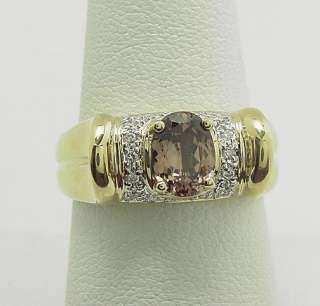 FANTASTIC LAURA RAMSEY 14K TOURMALINE DIAMOND RING