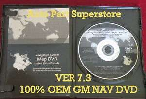 CHEVY GM GMC NAVIGATION GPS SOFTWARE MAP CD DISC DVD