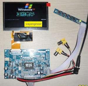 LCD AT043TN24V.1 + VGA+2AV driver board
