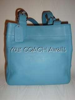 New Coach SOHO BUCKLE BAG~1997 CLASSIC Shoulder Tote~POOL BLUE Handbag