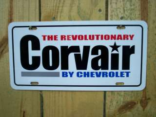 Chevrolet Corvair plate tag 61 62 63 64 65 66 67 68 69