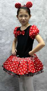 Halloween Disney Minnie Mouse Girls Costume Dance Dress Ballet Leotard