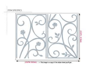Silver Vine Window Decoration Removable Sticker Decals