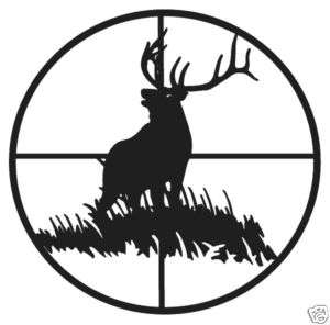 Elk Bull Decal In Cross H Wildlife Hunting 6 Stickers