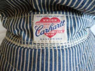 VINTAGE CARHARTT RAILROAD ENGINEERS HAT / CAP HEART LOGO