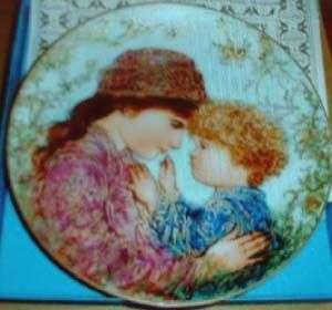 Sarah & Tess Mothers Day 1983 plateby Edna Hibel