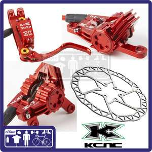 KCNC X7 Hydraulic Disc Brake set Rotors 160mm Red