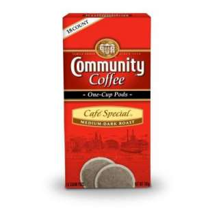 Community Coffee Cafe Special Single Cup Coffee Pods, 18 count 16216