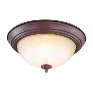 Commercial Electric Nutmeg 2 Light Flushmount Twin Pack EFG8012A NTMG