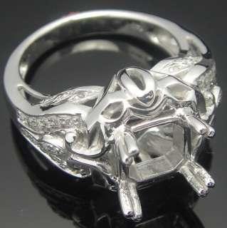 5mm CUSHION CUT 14K WHITE GOLD DIAMOND ENGAGEMENT&WEDDING SEMI MOUNT