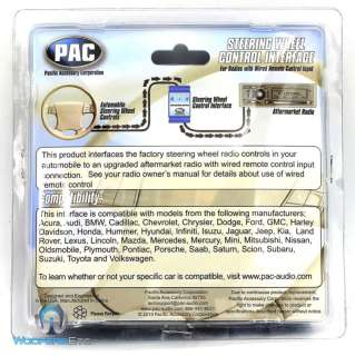 SWI RC PAC STEERING WHEEL CONTROL ALPINE CLARION JVC KENWOOD PIONEER