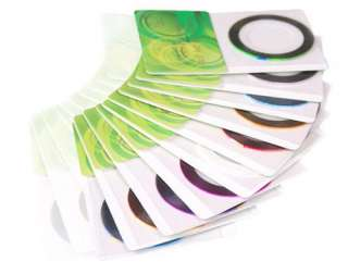 10X STRIPING TAPE COLOR TIP LINE NAIL ART STICKER ROLLS DECORATION g