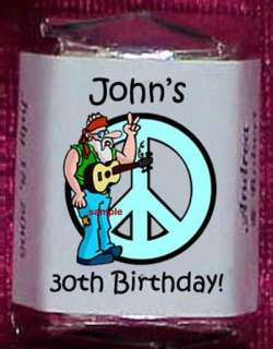 BIRTHDAY PARTY Personalized Candy Wrappers Favors Adult Kids