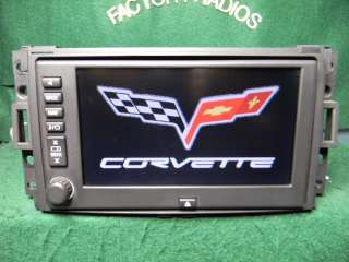 05   09 GM Chevy Corvette NAVIGATION BOSE RADIO C6 15263014 DVD Map