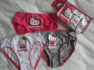Genuine Hello Kitty 3 Pack Pants Knickers Briefs NEW