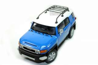 AUTOART TOYOTA FJ CRUISER 1/18 DIE CAST MODEL BLUE AUTO ART NEW 00624