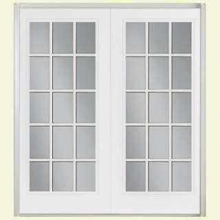Interior prehung primed 15 lite french wood door doors for 15 lite french door interior