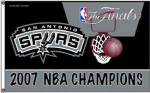 San Antonio Spurs 2007 NBA Champs Banner Flag 3 X 5