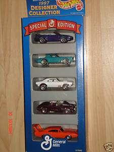 1997 Hot Wheels GENERAL MILLS 5 Car Gift Pack