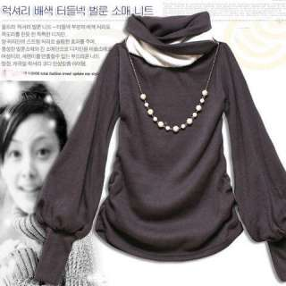 New WomenS Fashion Classic Stylish Long Sleeve Shirt Tops Black/White
