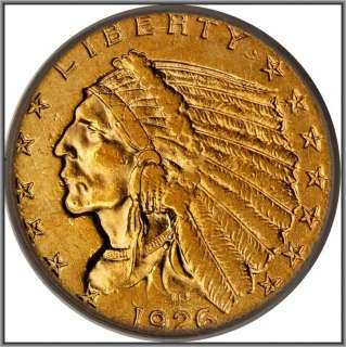 1926 US INDIAN HEAD GOLD QUARTER EAGLE $2.50 PCGS XF 45Please Click