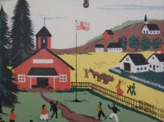 Alexander (1894 1965) California Artist Print Small Town Church School