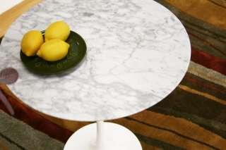MARBLE TOP END SIDE TABLE SAARINEN STYLE REPRO 19.5 DIAMETER
