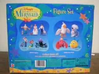 DISNEY LITTLE MERMAID FIGURE SET NEW SEALED PACKAGE