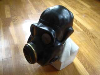 Soviet Russian USSR military black rubber gas mask PBF