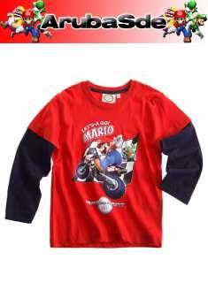NEU ~ Nintendo ~ Mario ~ Kart ~ Luigi ~ Joshi ~ Langarmshirt ~ WII