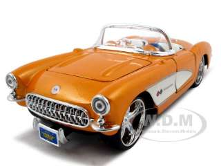 1957 CHEVROLET CORVETTE ORANGE 124 CUSTOM DIECAST CAR MODEL BY MAISTO