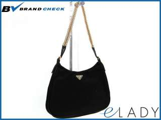 Auth PRADA Chain Pouch Nylon Nero(Black) BR0104 (BF030949)