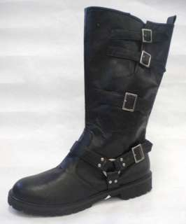 Black Distressed Motorcycle Riding Outlaw Biker Gang Costume Boots 12