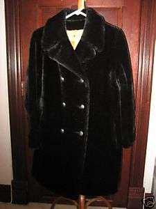 AWESOME BLACK FAUX FUR womens coat A MUST HAVE