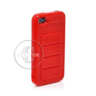 FERRARI RED AIR CUSHION FASHION CASE HOUSING FOR APPLE iPHONE 4 4G 4S