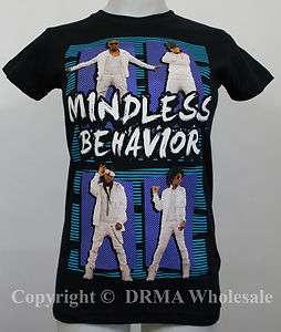 Authentic MINDLESS BEHAVIOR Standing Photo Girl Juniors Tee T Shirt S