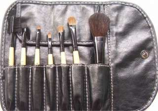 NEW Makeup 7 pcs Yellow Brush Cosmetic Brushes Set Kits With Case