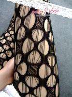 round holes design Fishnet Tights Pantyhose LK161 black