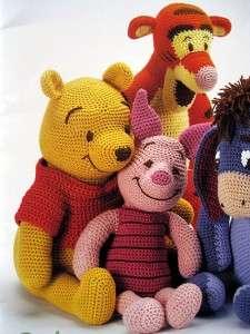PATTERNS Winnie the Pooh~Tigger~Piglet~Eeyore+++STUFFED TOYS~DOLLS