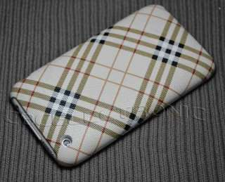 Brown checker Design PU hard case cover for iphone 3g 3gs TP